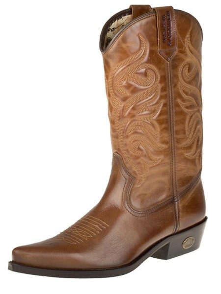 Westernové boty KENTUCKY JOE KW-008 barva hnědá 1d75af428c