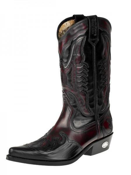 Westernové boty KENTUCKY JOE KW-012 barva vínovo černá c739eeea79