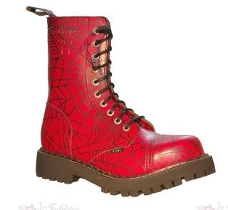 833f7006386 boty Steel Spider červené - 10 dírkové