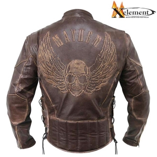Bunda XELEMENT FLYING SKULL BROWN